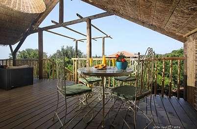 צימר in north area   Biktapuz - Orange cottage - הירוק הזה שאתם רואים מהמרפסת - אלה צמרות העצים